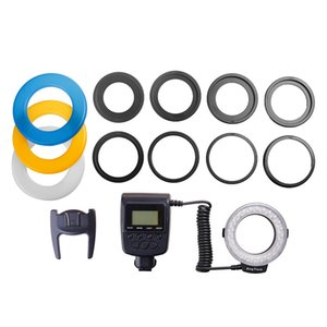 48 Macro LED Macro Ring Flash Light with 8 Adapter Ring for D5000 for 650D 600D 550D