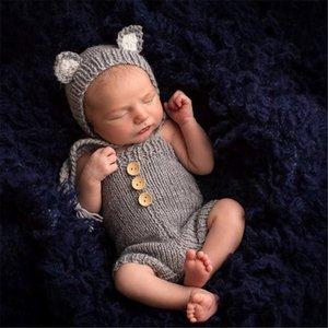 شكل فوكس التصوير الفوتوغرافي طفل QjI1m الأطفال ملابس سترة محبوك سترة طفل التصوير من صنع الحيوان الملابس 392