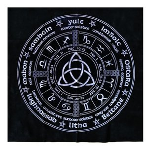 Board For Daily Pagan The Of Cloth Tablecloth Year Divination Magicians Table Astrology Tarot Card Wheel Tarot Triquetra Cloth yxleik