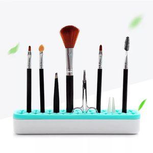 Trucco silicone pennello bagagli Boxs pennelli di trucco del supporto della cremagliera della spazzola scaffali cosmetici Tool Kit cassa dell'organizzatore di immagazzinaggio GGA3709-1