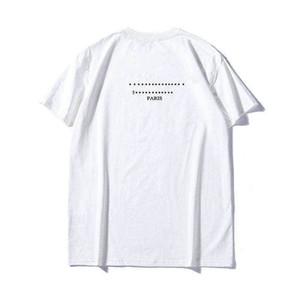 Мода Стиль Mens T Shirt Men Сыпучие тройники Письмо Кривой Печать Лето дышащие Короткие рукава Top Sell тенниска Азиатского размер
