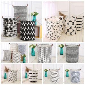 Ins Storage Baskets Bins Kids Room Toys Storage Bags Bucket Clothing Organization Canvas Laundry Bag OOA4410