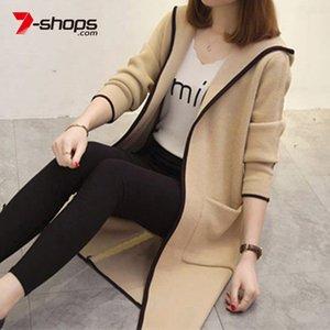 AECU Weibliche Strickjacke Frauen Pullover für Frauen-Jacke plus Größe Harajuku Elegante Taschen gestrickte Oberbekleidung Sweater Kapmantel