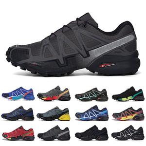 salomon sneakers 트리플 블랙 속도 크로스 4 CS 야외 남성 신발 SpeedCross 사 주자 IV 트레이너 남성 스포츠 운동화 CHAUSSURES zapatos 조깅을 실행