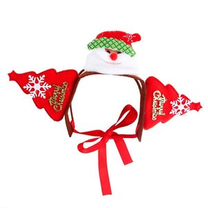 Acessórios de cabelo do gato Pet Papai Noel Headband do feriado do Natal Dog Costume