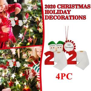 Maschera di Natale fai da te personalizzato quarantena Baby Face decorare l'albero di Natale Ornamento Navidad 2020 bambino Decoration Mask