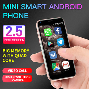 Оригинал SOYES XS11 Mini Android 6.0 Сотовые телефоны с 3D Glass Стройный HD камера Dual Sim Quad Core Google Play Market Cute Smartphone