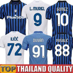 20 21 Atalanta Camisetas de futebol MURIEL 2020 2021 Atalanta BC Maglia da Calcio DUVAN Camisa de futebol ILICIC PASALIC GOMEZ Homens Kit Infantil uniforme
