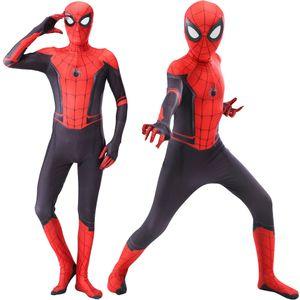 Halloween kids adult spider costume man cosplay verses spider Miles Morales Cosplay Costume Zentai Spider pattern Bodysuits C0927