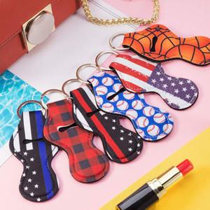 10pcs Chapstick Holder Keychain Mini Lipstick Storage Bag Holder Lightweight Portable Keychain Pouch Christmas Women's Gift