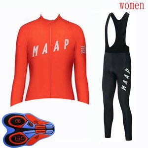 Womens MAAP Team Breathable Cycling Jersey set Long Sleeve Bike Shirt bib pants suit MTB Bicycle clothes outdoor sports uniform Y20091902