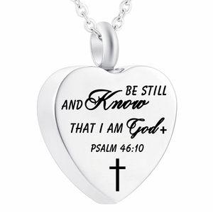Bible Collier Christian Verse Pendentif croix prière charme Collier Foi bijoux pour les femmes Keepsake avec sac joli paquet