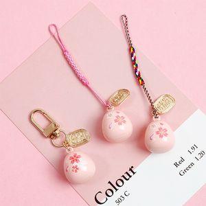 لطيف الحبل حزام الياباني، لفون سامسونج، صوت الماء بيل، والديكور الكرز الوردي، حزام المحمول، حبل الهاتف حبة