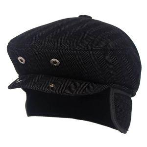 Klasik Vintage Bereliler Şapka Men 2020 Sonbahar Kış Sıcak Newsboy Retro Ivy Şapka erkekler Düz Cap Kış kulaklığı Baba Şapka Berets Caps