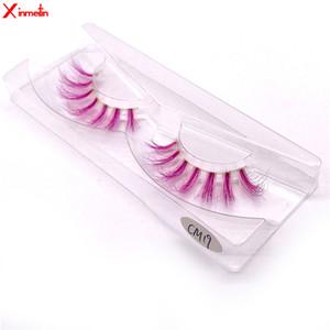 New 3D mink lashes wholesale makeup Colored eyelashes natural long individual thick fluffy dramatic volume soft false eyelashes