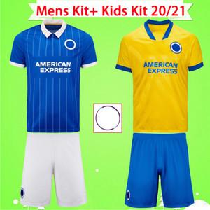 Camisas de futebol Brighton & Hove Albion Kit adulto + kit infantil 2020 2021 MAUPAY TROSSARD CONNOLLY MURRAY terno masculino 20 21 camisas de futebol masculino conjunto infantil