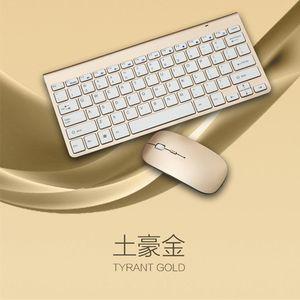 Teclado 2.4G ratón inalámbrico Multimedia Oficina del teclado del ratón Ajuste para el cuaderno del ordenador portátil Mac Office Supplies TV PC de escritorio