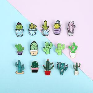 Conjunto accesorios pequeos y bonitos, Pin Esmaltado dibujo de Planta, broches en maceta con Kaktus colorido, Befähigungen, joyera