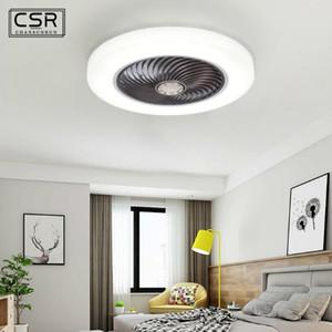 52cm Smart Phone APP Control LED Ceiling Fan Fans with Light Remote Control Bedroom Decor Ventilator Lamp Air Invisible Fan Lamp
