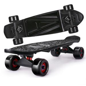 Skateboarding Kids Fish Skateboard Mini Board Outdoor Sport Straße 65cm Vierrad Longboard Komplette Skateboards für Jungen Mädchen