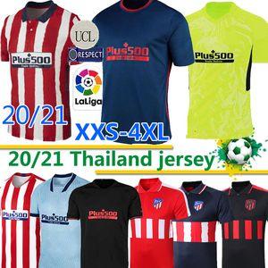 Atletico KOKE Madrid 20 21 # 7 JOÃO Felix de Futebol 19-20 Homens Crianças mulheres SAÚL CORREA Thomas Lemar camisas Camiseta De Fútbol 2020 thailan