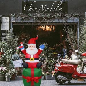 Claus 1.8 Dış Mekan m Noel Şişme Süsler Santa Noel Yılbaşı Partisi Ev Shop Yard Bahçe Dekorasyon Eu Tak