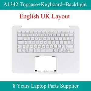 A1342 UK Klavye Arka Işık Üst Kılıf Kapak Palmrest 2009 2010 Yılı İçin Notebook Beyaz İngiliz A1342 Topcase Değiştirme