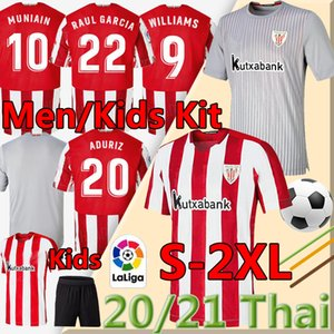 2020 camisas de futebol WILLIAMS MUNIAIN Aduriz 2021 Bilbao Soccer Jersey Athletic I.MARTINEZ Raúl García Camiseta de Fútbol Homens uniformes
