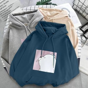 2020 new winter warm plus velvet womens student college cartoon Hoodies Sweatshirts Drop Shipping Good Quality