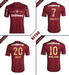 Fluminense maglia da calcio maglia da calcio classico 11 12 Deco LANZINI Rafael Sobis Thiago Neves Fred annata 2012 retrò 2011