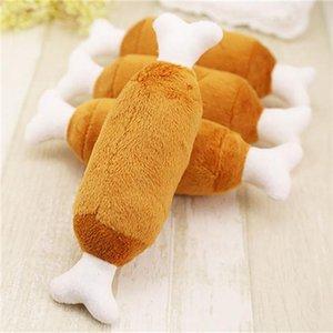 Poulet jouets en peluche Belle Designs Pet Pc Drumstic Siffleur Animaux Mâcher 1 chien chiot Squeaky petits chiens pour les produits de son lKumv bdetoys