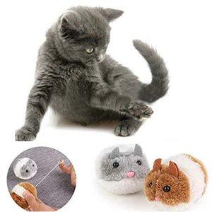 Lustige Furry Cat Spielzeug-Plüsch-Shake-Bewegung der Maus Katze Spielzeug nette Mäuse fangen Interactive Biss Supplies zufällige Farben