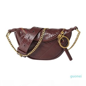 Real Leather Small Pockets Female Bags 2020 Summer New Wild Fashion Leather Handbags Shoulder Messenger Bags Chain