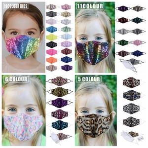 bambini paillettes maschera scintillio bambini copertura bocca bling resuable maschere traspiranti morbidi bling mascherina di ballo earloop esterni protettivi FFA4421