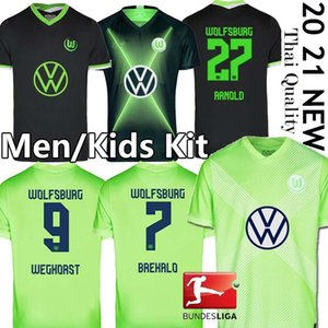 20 21 VfL Wolfsburg Soccer 2020 Weghorst 2021 STEFFEN Brekalo Football Shirt ARNOLD XAVER hommes Jersey + enfants kit uniforme