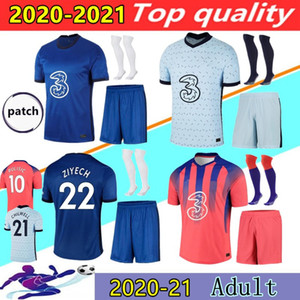 20 21 CFC لكرة القدم الفانيلة CHILWELL WERNER ZIYECH T.SILVA Kovacic كانتي يليان MOUNT قميص كرة القدم 2020 2021 إبراهيم مجموعات جيرسي بعيدا المنزل