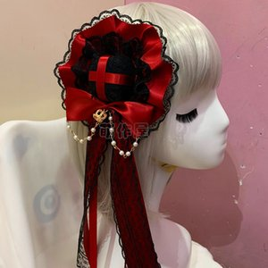 Japanese Lolita Lolita Ornament Princess Hat Billycock Hair Accessories Soft Sister Daily All-match Headwear and Hairpin