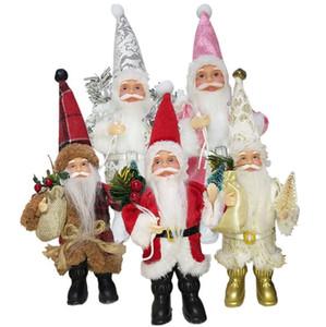 Горячие Продажа Рождество Санта-Клаус куклы украшения Рождество стенд ткань Санта-Клаус куклы украшения Санта-Клаус куклы в запасе