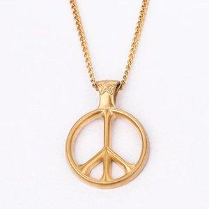 Gioielli in acciaio inossidabile rotonda Pace Collana Anti-War collane di fascino per gli uomini donne
