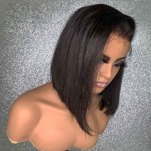 Remy Hair 13x4 Lace Front Human Hair Wig Silk Straight Side Part Glueless Wig with Natural Hairline For Black White Women