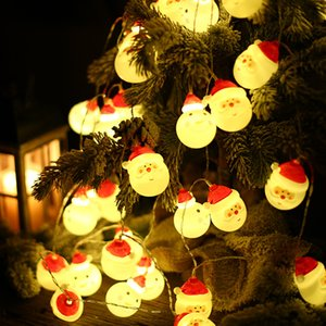Weihnachtsmann String LED-Leuchten Schöne Fancy Atmosphäre Schneemann-Weihnachtsbaum-Partei-Dekoration Gardens Startseite Hochzeit