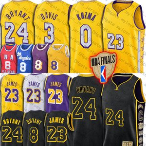 James Bryant LeBron Jersey James Black Mamba Anthony Davis maglie Los