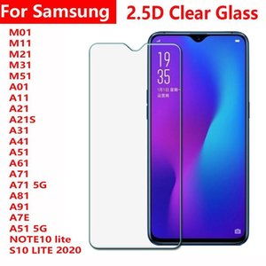 2 .5d Clear Tempered Glass Phone Screen Protector For Samsung A01 A11 A21 A21s A31 A41 A51 A61 A71 A81 A91 M01 M11 M21 M31 M51 S10 Lite 2020