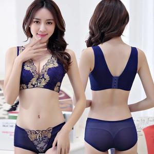 Taille Plus 34-42C Femmes Sexy Bralette Big Size Bra Set Sous-vêtements Soutien-gorge et culottes Intimates Hauts pour femmes Ensembles Lingerie