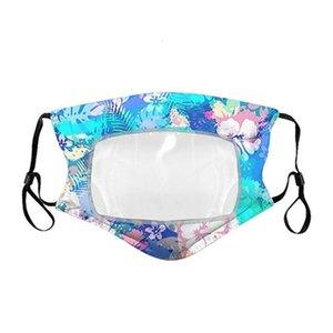 Floral Lip Visuable Deaf réutilisable coton respirant de protection bouche Couverture clair Masques Patchwork Plastique Iia332 8xce #