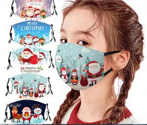 Parti Masques 10 Styles Adulsts enfant réutilisable adulte 3D Kids Imprimer Père Noël Divertissement de protection de Noël bouche Masque masque Mark Matière textile