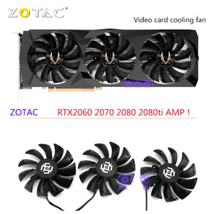 3Pcs Set GA92S2U DC12V 0.46A Graphics Card Fans For ZOTAC RTX 2080 2080Ti AMP GAMING Video Card Cooling As Replacement