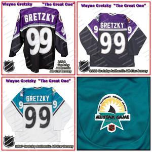 Уэйн Гретцки 1994-1997 Kings Хоккей Джерси 100% персонализированные вышивки могут быть настроены для любого имени и номера джерси