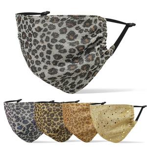 Leopard Print Face Mask Designer Face Masks Hombres Mujeres Colgando Oído Tipo Transpirable Polvo Haze Adulto Máscara En stock