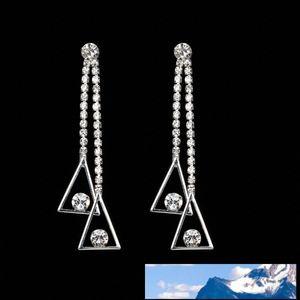 Temperament Concise Trendsetter Pendant Personality Joker Long Fund Tassels Earrings Long Fund Triangle Star Eardrop Woman